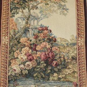 Tapiz paisaje flores fondo monumento