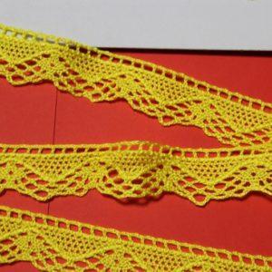 Encaje de bolillo colores 2.50 cm